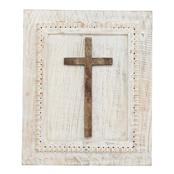 Wooden Cross Plaque