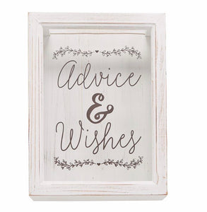 Advice & Wishes box