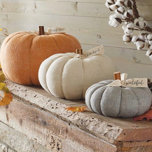 Stuffed Wool Pumpkin