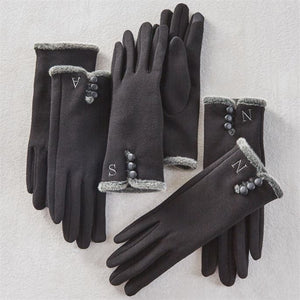 Initial Touchscreen Gloves