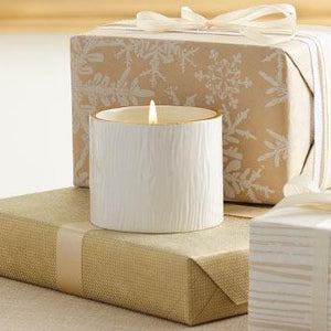 Candle - Small White/Gold Frasier Fir