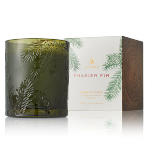Candle -Frasier Fir Small Green Glass