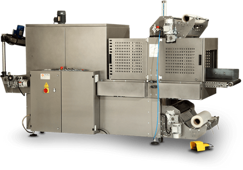 MS70AL Sleeve Wrapping and Bundling Machine with Double Motorised Belt and Tunnel