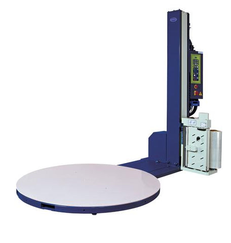Optimax® Power Pre-stretch Pallet Wrapping Turntable with Weigh Scales and Soft Wrapping Feature