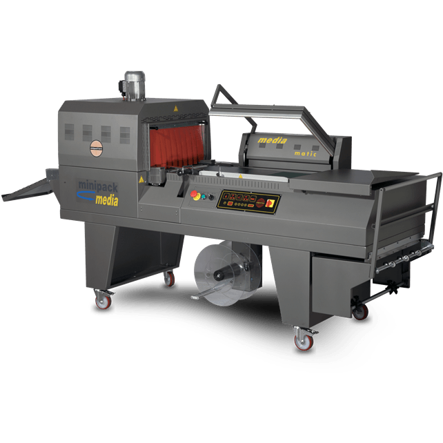 Media STEEL IT Semi-Automatic L Sealer & Shrink Tunnel