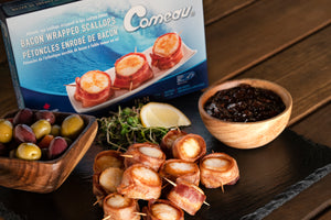 Bacon-Wrapped Scallops (Frozen)