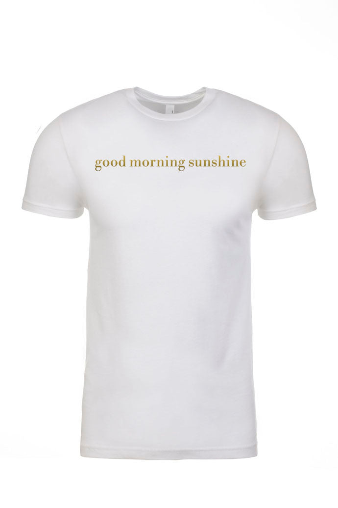 GOOD MORNING White Tee