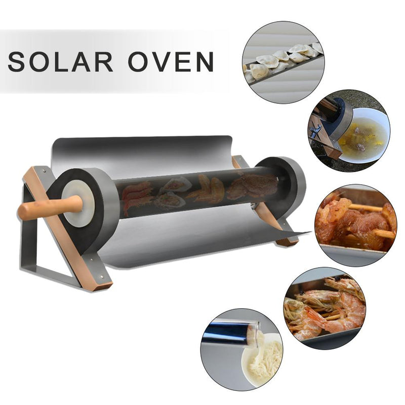 Solar Tube Cooker Use Of Sunlight For Outdoor BBQ