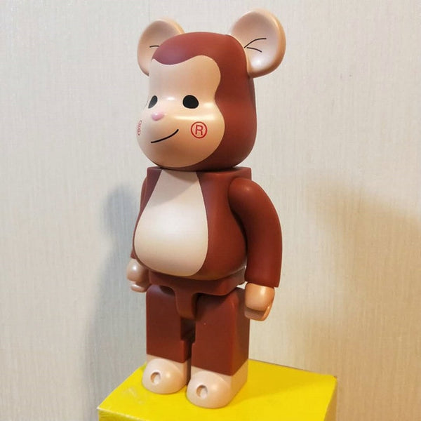 11inch 400% Bearbricklys Bear@bricklys Action Figures Block Bear PVC Model Figures Children Gifts DIY Paint Dolls Kids Toys