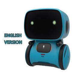 New Blue Children's Robot Toy Dancing Voice Command Touch Control Toy Interactive Robot Toy Children's Intelligent Robot Gift
