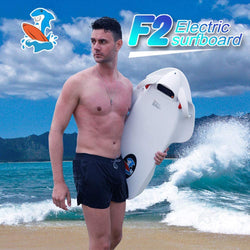 Electric Surfboard Swimming Assist Bodyboard For Adults 3200W 36V 12Ah Underwater Scooter For Surfing-White F2