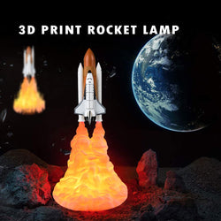 New Space Shuttle Lamp And Moon Lamps In Night Light By 3d Print For Space Lovers