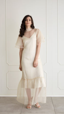 Barre Silk Organza Dress