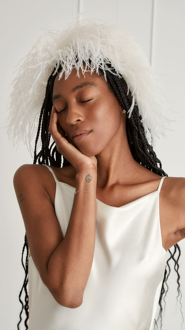 Ostrich Feather Halo