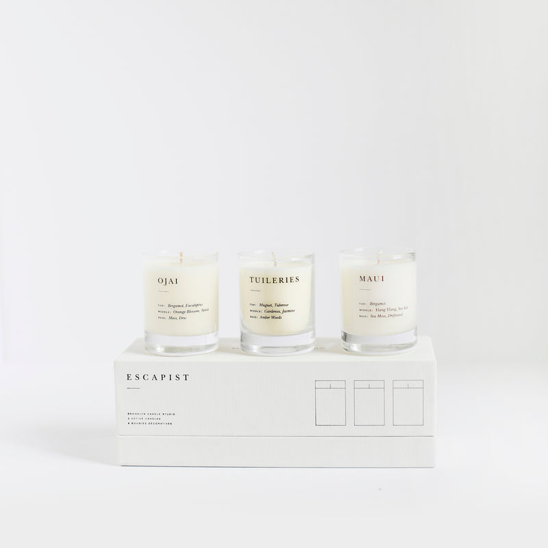 Escapist Votive Set - Citrus + Floral
