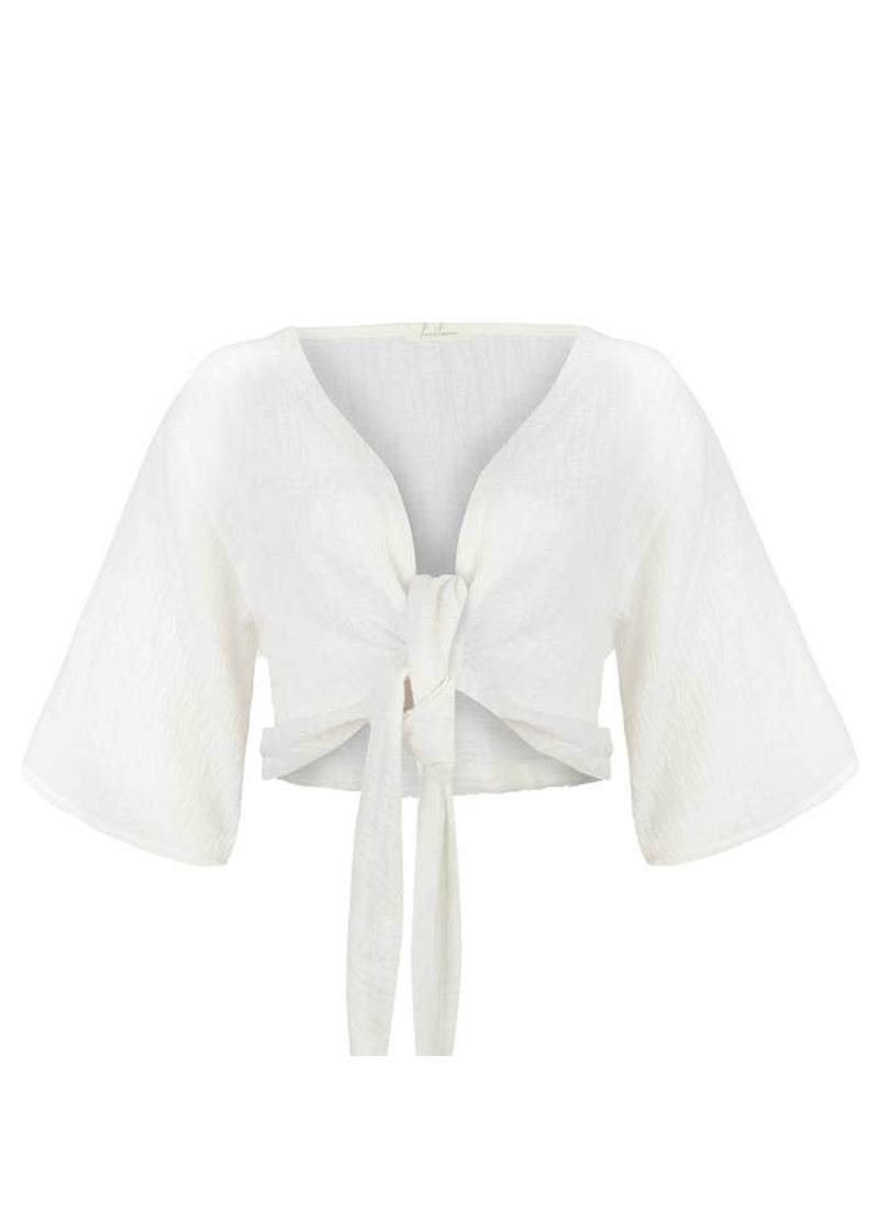 Bali Wrap Top - White