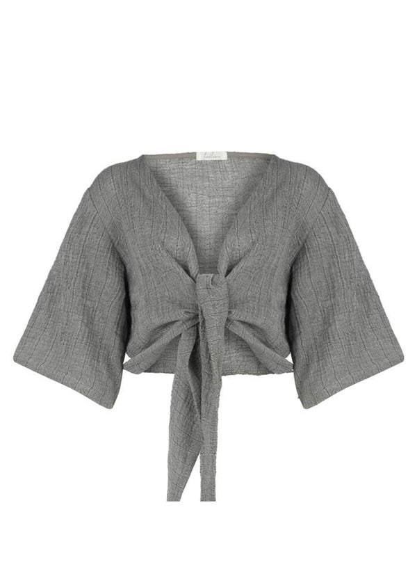 Bali Wrap Top - Grey
