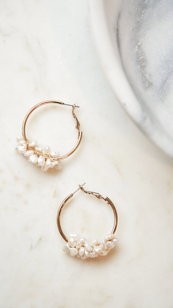 Freshwater Pearl Hoops - Small