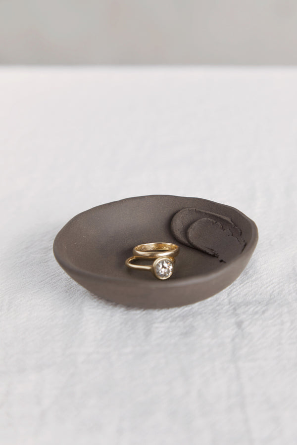 Black Porcelain Ring Dish