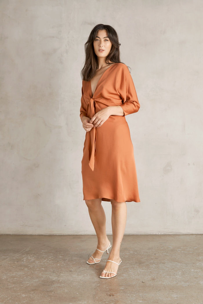 Mara Dress - Salmon