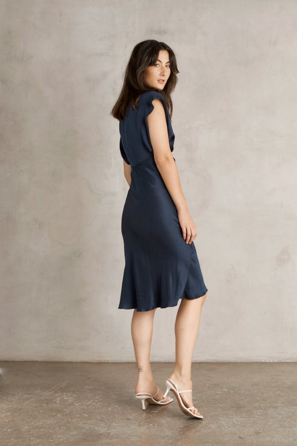 Mara Dress - Navy