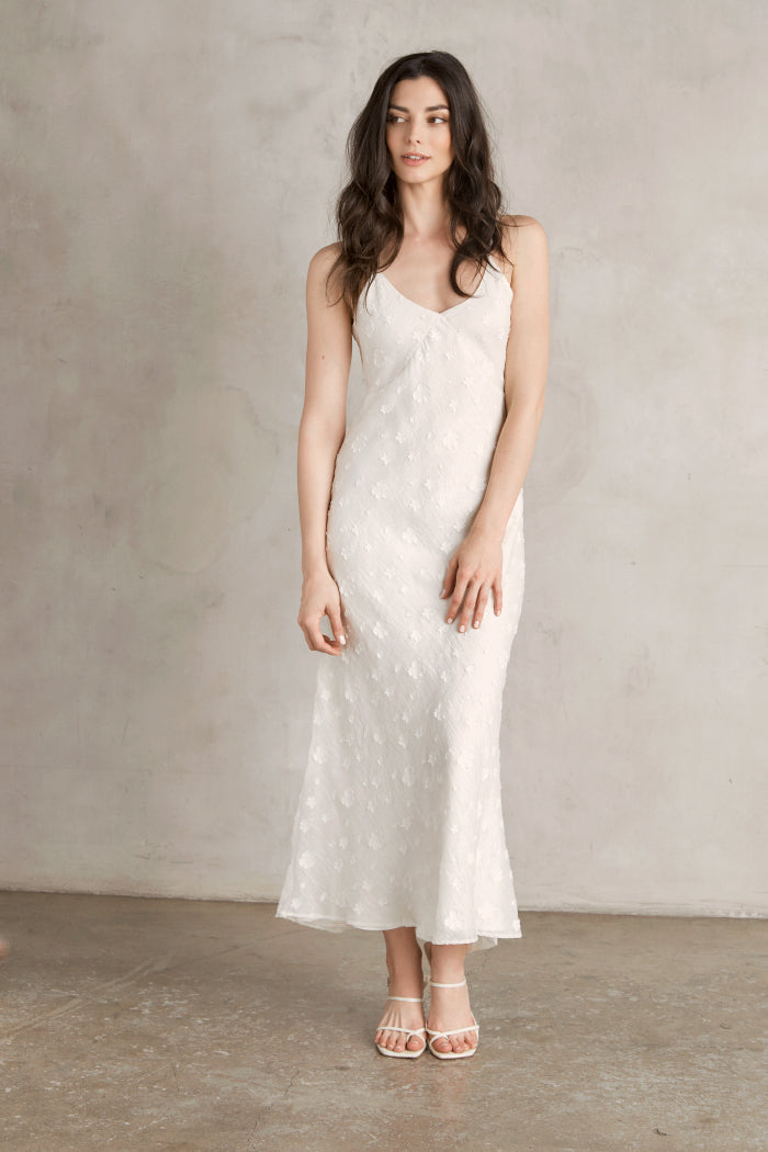 Raquel Clipped Jacquard Organza Dress