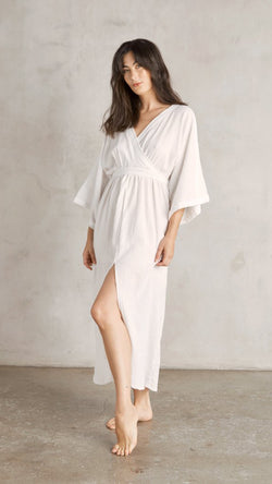 Malibu Wrap Dress - White