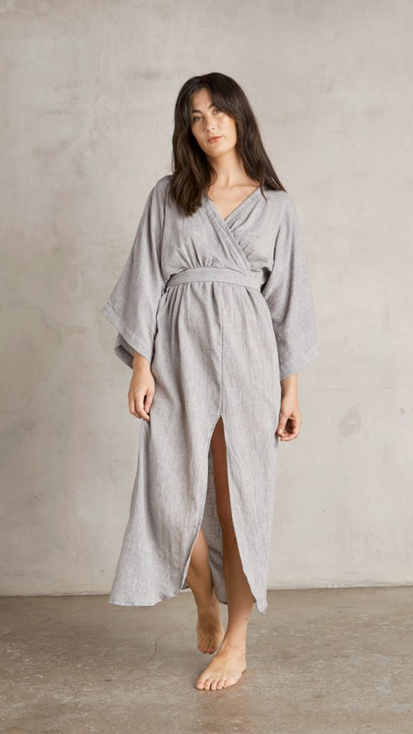 Malibu Wrap Dress - Grey