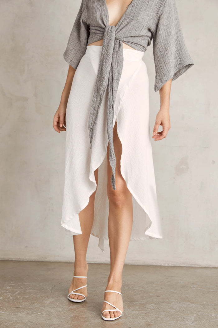 Duru Wrap Skirt - White