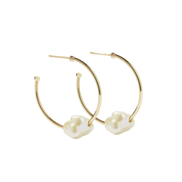 Baroque Hoop Earrings