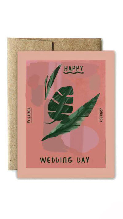 Monstera Wedding Card