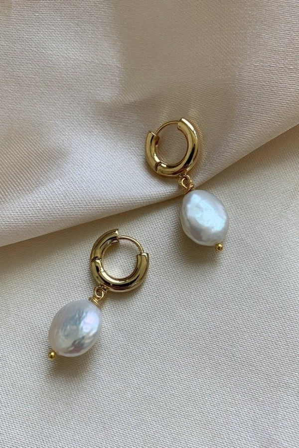 Pearl Hoop Earrings II