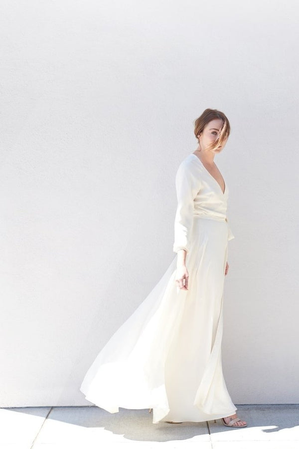 Linden Wrap Gown