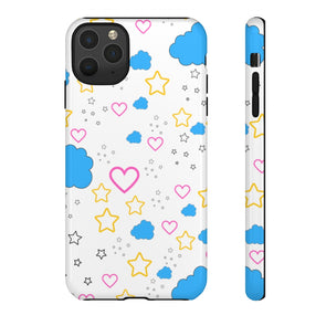 Stars, Clouds And Hearts - Signature Phone Case