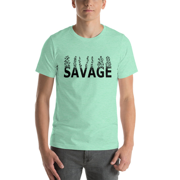 SAVAGE - Floating Skulls ~ Short-Sleeve T-Shirt