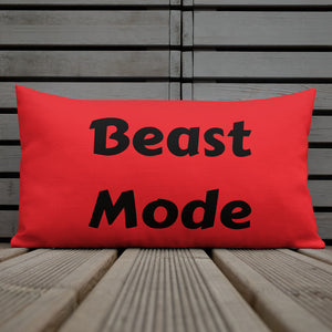 Beast Mode ~ Red Premium Pillow
