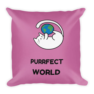 Purrfect World ~ Premium Pillow