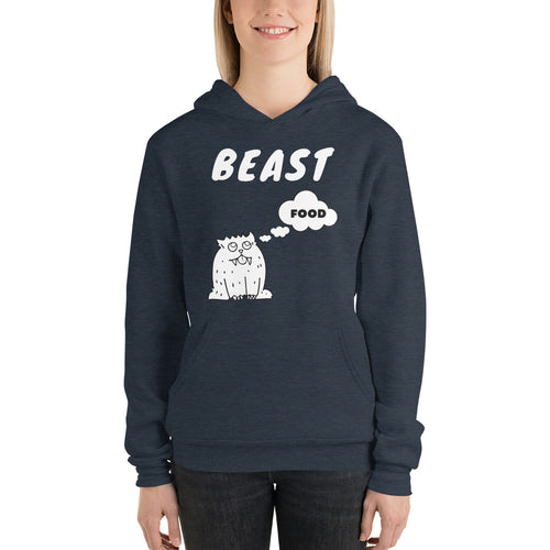 Beast ~ Thinking About Food ~ Lightweight Hoodie