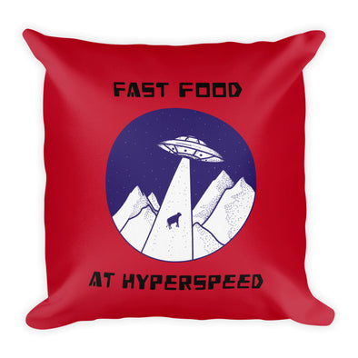 FAST FOOD AT HYPERSPEED ~ Red Premium Pillow