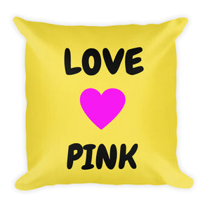 Love Pink ~ Yellow Premium Pillow
