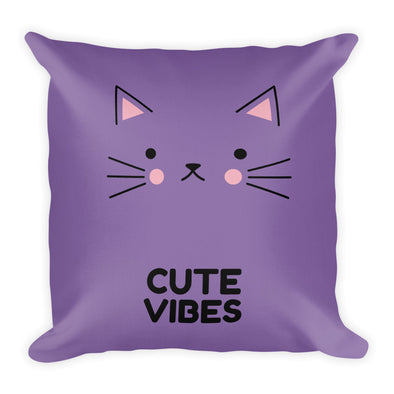 Cute Vibes ~ Purple Premium Pillow