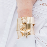 Gold Bulldog Cuff
