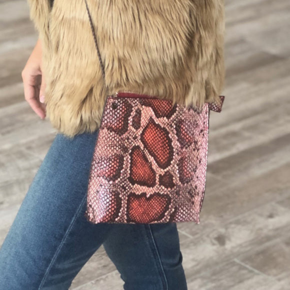 SALE Liv Snakeskin Crossbody
