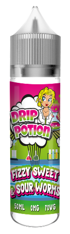 Drip Potion Sweet and Sour Worms E-Liquid manufactured and sold by E-Sheesh.