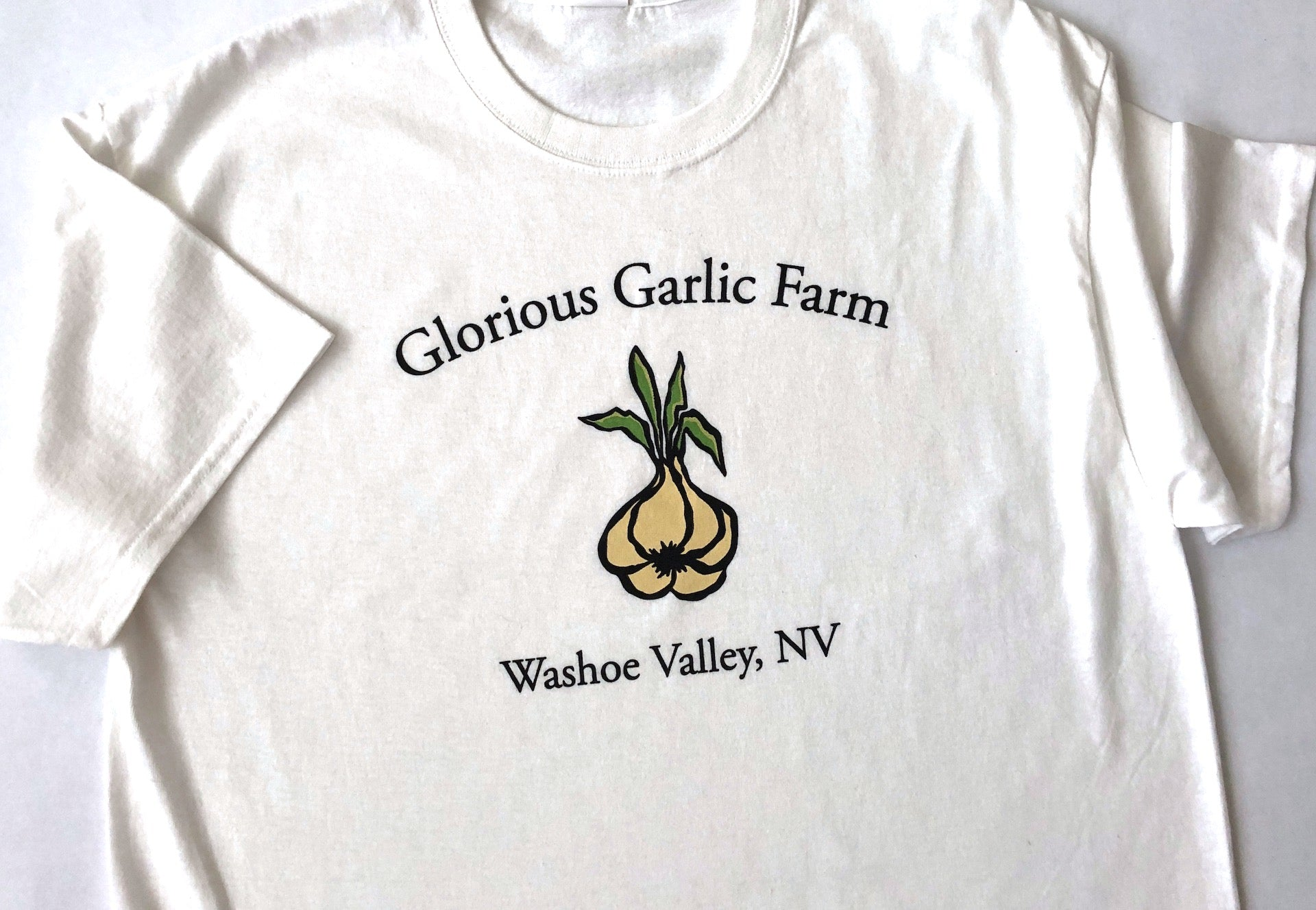 Glorious Garlic Farm Men's Short Sleeved T-Shirt -Bright White  FREE SHIPPING