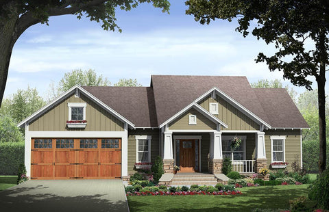 Craftsman House Plan - HPG-1509B