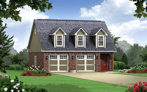 small house plan detached garage