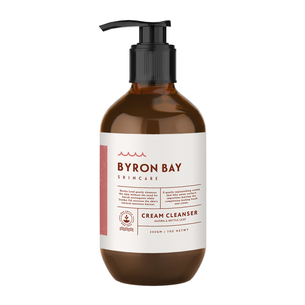 BYRON BAY SKINCARE Cream cleanser- jojoba & nettle leaf