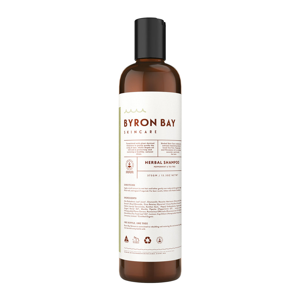 BYRON BAY SKINCARE Herbal Shampoo - Peppermint & Tea Tree