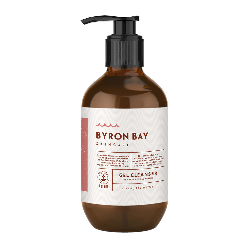 BYRON BAY SKINCARE Gel cleanser - Tea tree & willow bark